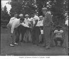Caddies at Broadmoor Golf Club, Seattle, June 16, 1949
