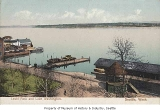 Leschi Park dock and boathouse, Seattle, ca. 1900