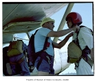 Skydivers preparing for jump, Issaquah, July 10, 1985