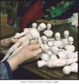 Doll bodies in Ada Odenrider's home studio, Seattle, February 1985