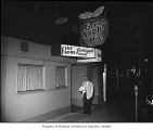 Green Apple Pie shop exterior showing a man near the entrance, Seattle, n.d.