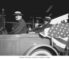 Vice President Calvin Coolidge in car, Seattle, ca. 1922