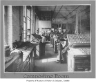 Workers in Lowman & Hanford composing room, Seattle, n.d.