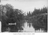 Canoes on Black River, ca. 1898
