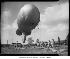 Barrage balloon, Seattle, 1943