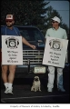 Seattle Seahawks players picketing during NFL strike, Seattle, September 22, 1987