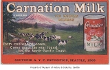 Carnation Milk promotional postcard, 1909