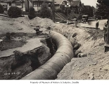 Water pipe on Capitol Hill, Seattle, July 31, 1923