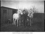 Carl Anderson with horses, Seattle, ca. 1910