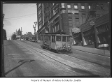 Cable car on James Street, Seattle, July 14, 1930