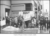 Anti-Reagan demonstration in downtown Seattle, November 15, 1986