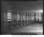 Group jail cell in new Public Safety Building, Seattle, 1950