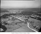 Aerial of North Bend looking northwest, 1956
