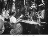 Card game in the woods, Port Madison, ca. 1910