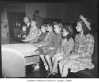 Children at naturalization ceremony, Seattle, 1944