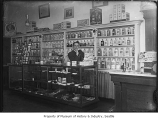 Drugstore and barber shop, Seattle, ca. 1910