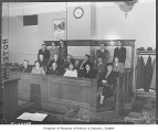 Grand jury seated in courtroom, Seattle, January 6, 1947