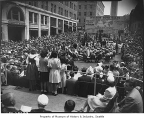 War bond sale in Victory Square, Seattle, July 4, 1944