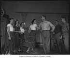 Children's Orthopedic Hospital guild members square dancing, Seattle, September 25, 1947
