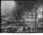 Fire at Fisher and Smith Bag Co., Seattle, 1937