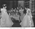 Maryknoll School students dressed for pageant, Seattle, 1942