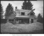 Model home under construction at Sheridan Beach, Lake Forest Park, September 1935