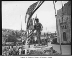 Doughboy statue in front of Civic Auditorium, Seattle, 1932