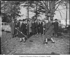 Groundbreaking for teachers' retirement home, Seattle, 1949
