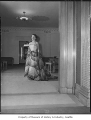 Model wearing evening gown at I. Magnin, Seattle, September 26, 1949
