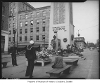 War memorial in Victory Square, Seattle, 1946