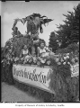Burton float in Vashon Peach Festival parade, 1949