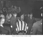 Funeral for Japanese American serviceman in Seattle Buddhist Church, Seattle, December 11, 1948