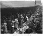 Shoppers at Pike Place Public Market, Seattle, ca. 1911