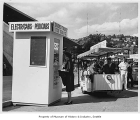 Electricab booth, Seattle World's Fair, 1962