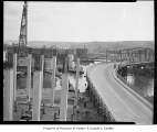 First Avenue South bridge under construction, Seattle, 1955