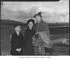 Eleanor Roosevelt with her grandchildren at airport, Seattle, March 1939