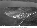 Aerial of Sand Point Naval Air Station from northwest, Seattle, ca. 1931