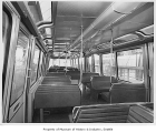 Monorail car interior, Seattle World's Fair, 1962
