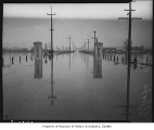Flooded road at entrance to Kent, 1936