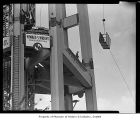 Space Needle construction detail, Seattle, 1961