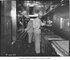 Cooks working in North Coast Limited galley, Seattle, September 29, 1947