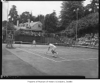 Tennis players in tournament at Seattle Tennis Club, Seattle, 1949