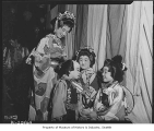 Four children preparing to dance at Bon Odori festival, Seattle, 1949