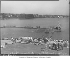 Swimming races at Green Lake, Seattle, 1941