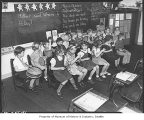 Music class at Parkland School, Seattle, 1939
