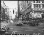 Fourth and Pike, looking south, Seattle, July 21, 1955