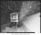 Snowplow at work on Snoqualmie Pass, December 31, 1948