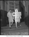 Man dressed as robot to advertise Channel 13, Seattle, October 20, 1960