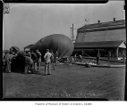 Barrage balloon on ground, Seattle, 1942