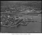 Aerial of Seattle Yacht Club and Montlake neighborhood from northwest, Seattle, 1940